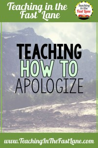 Apologizing with meaning is a life skills that our students need help with. By giving our students a framework to build their apology we are setting them up for successful relationships in the future.