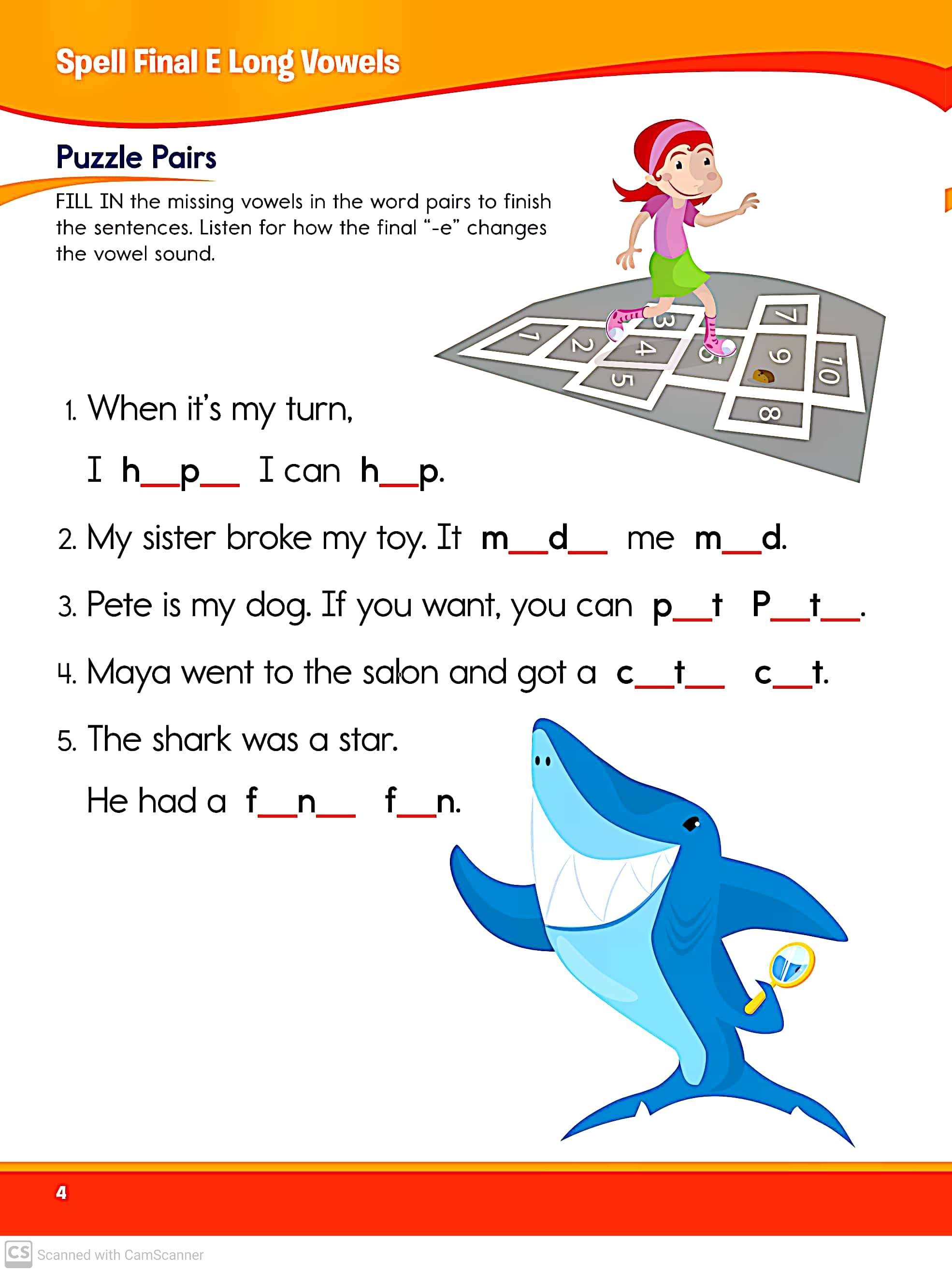 Spelling Game And Activity Worksheets For Grade 2