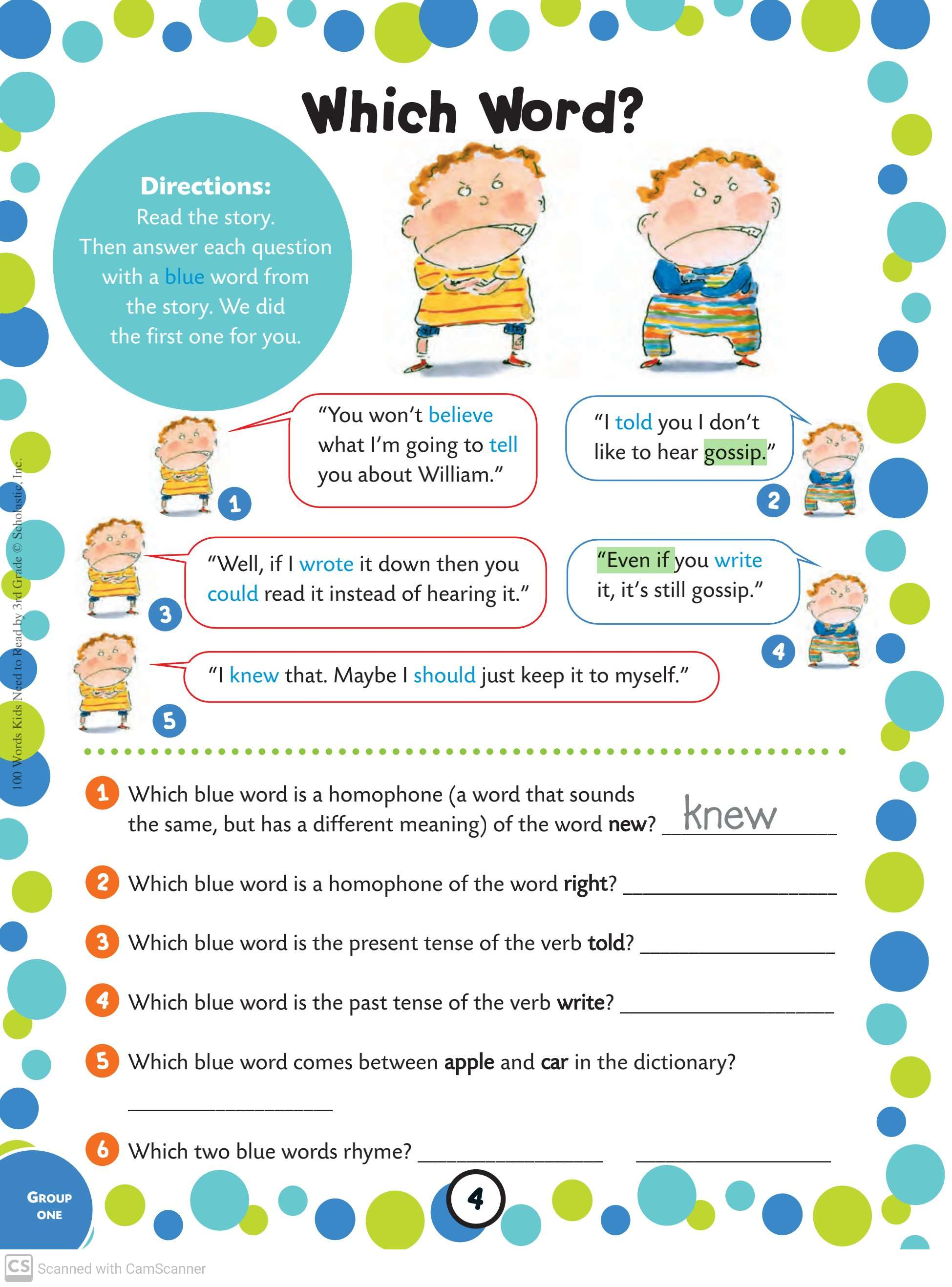 100 Words Kids Needs To Read By 3rd Grade Teaching Kids