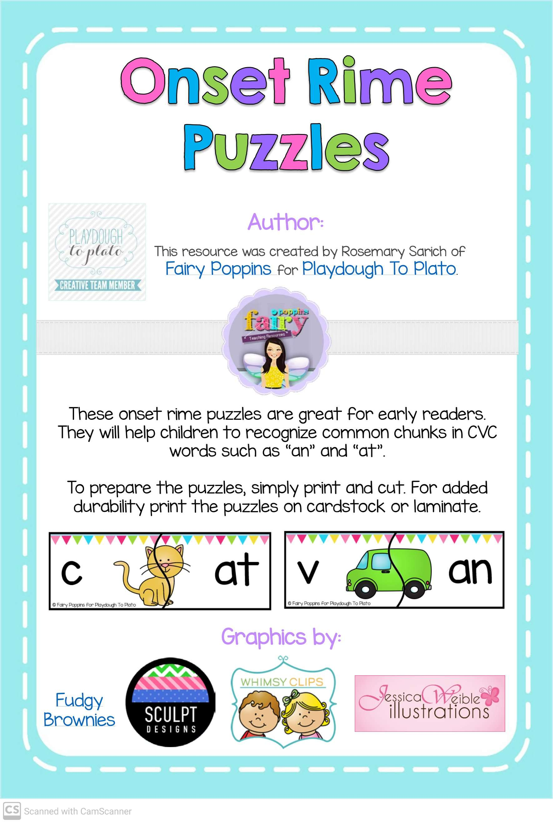 Cvc Words Blending Words Puzzles Teaching Kids To Read