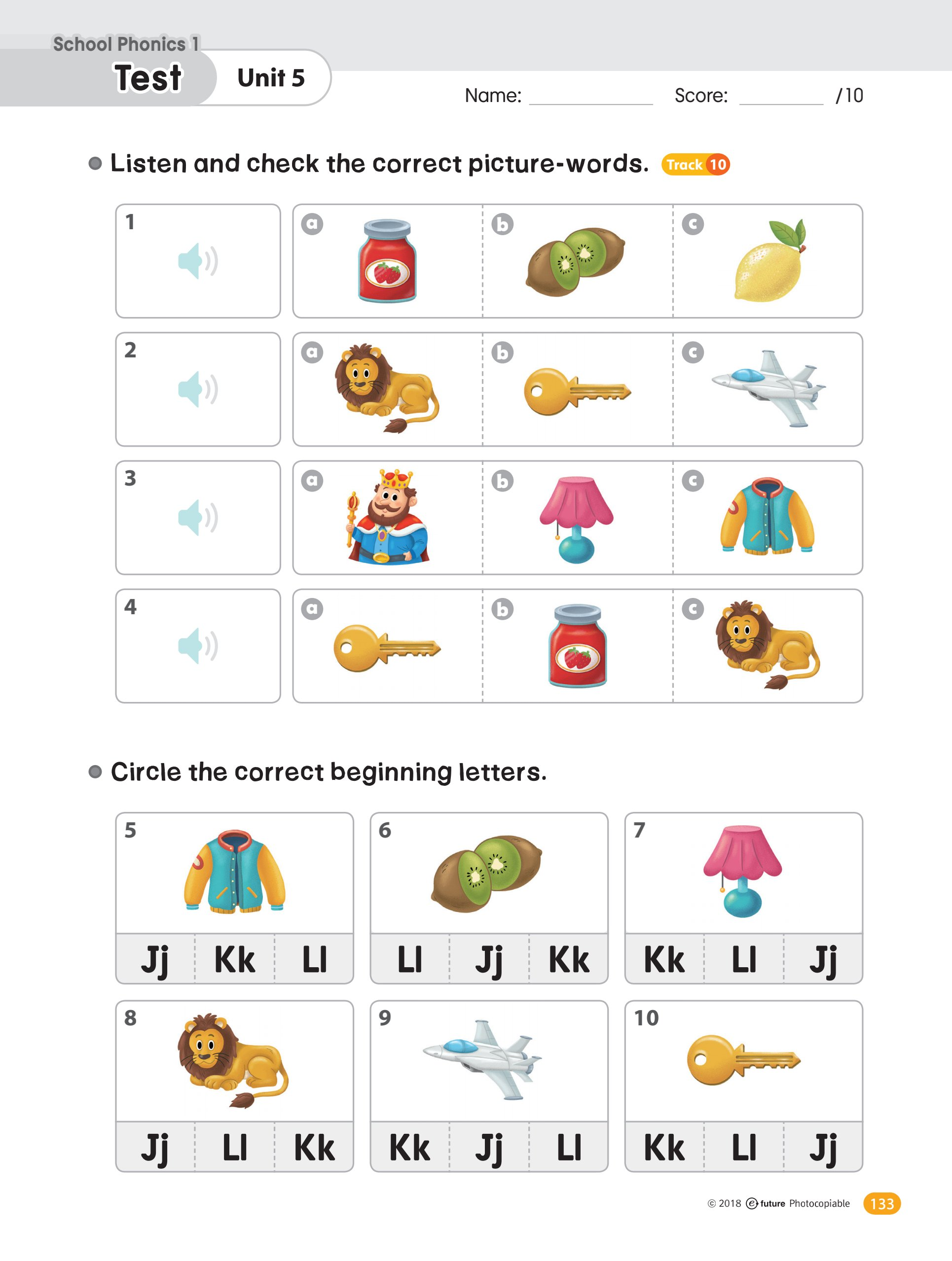 Phonics Practice Worksheets With Audio Test 2 Teaching