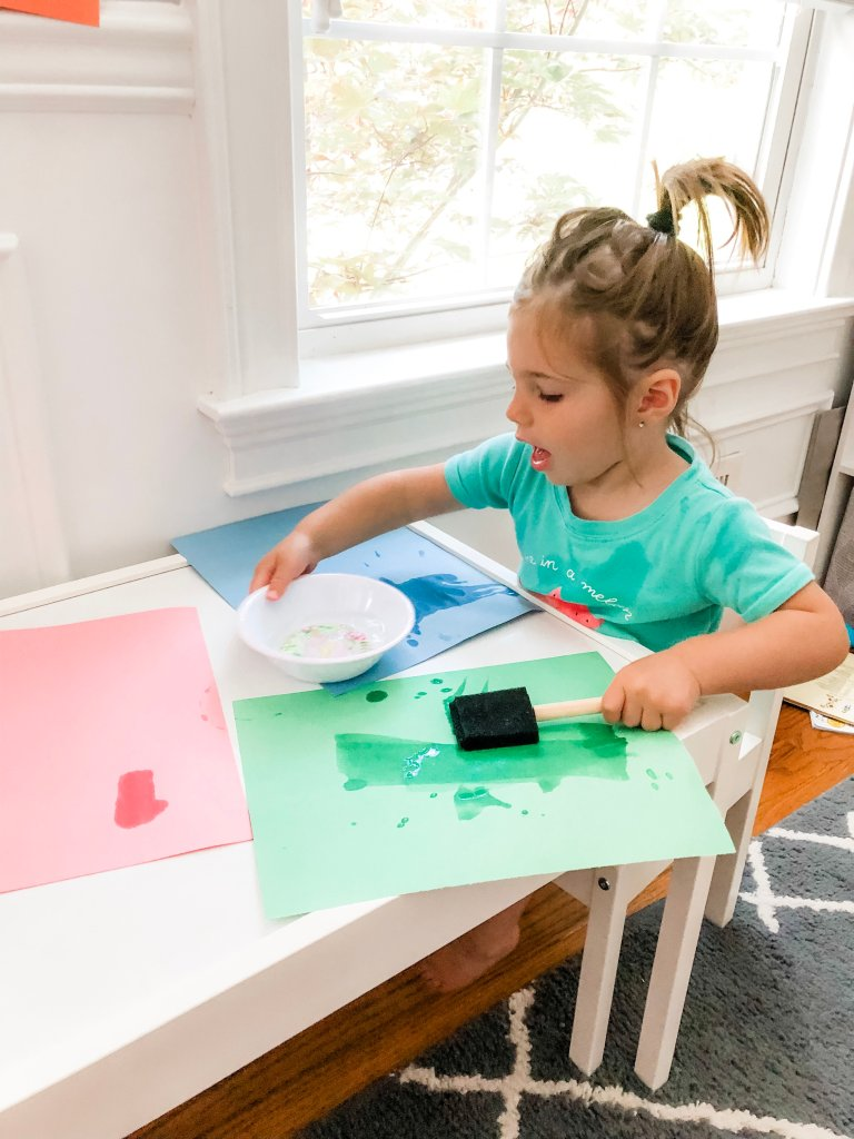 A simple set-up, fun, water play, sensory activity for indoors or outdoors. Keep your toddler busy and entertained by painting with water! This activity is easy and quick to set up and the only mess that's made is some splashes of water.