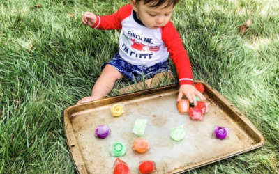 Frozen Toy Outdoor Sensory Baby and Toddler Activity