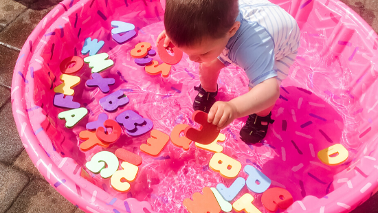 Fishing For Letters Toddler Outdoor Activity