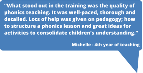 PGCE Primary and PGCE Early Years phonics teaching is superb