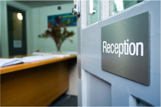Central London Venue for Hire reception area
