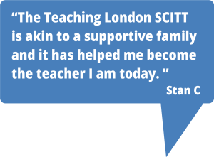 Teaching London supports trainee teachers well.