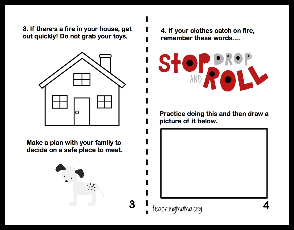Pictures Fire Prevention Worksheets