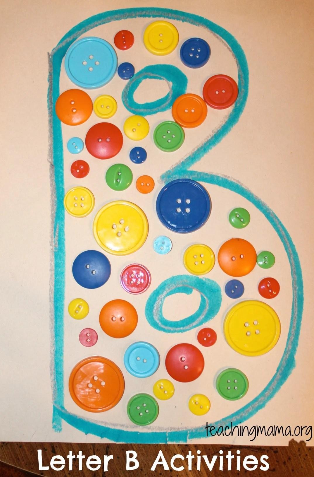Letter B Activities For Preschoolers