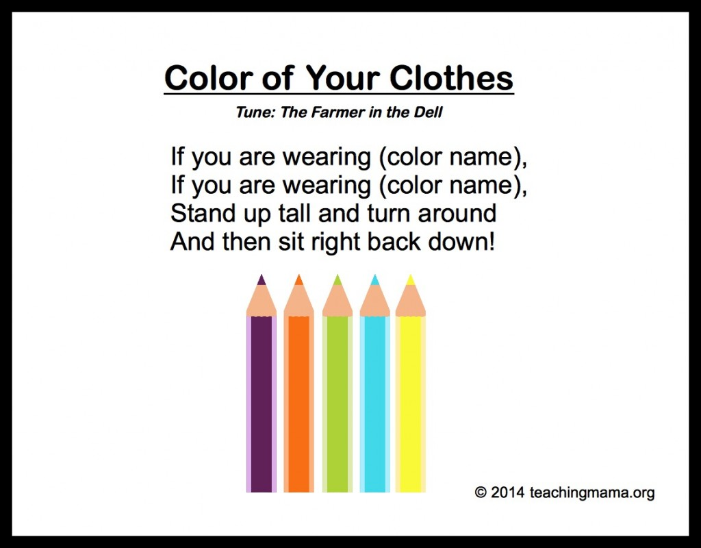 Poems About Clothes For Kids