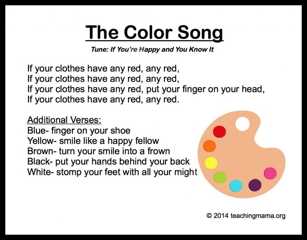Color Rhymes For Preschool