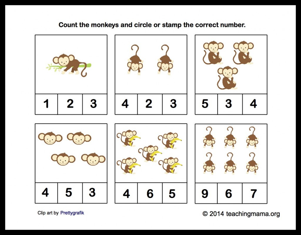 New 137 Counting Monkeys Worksheet