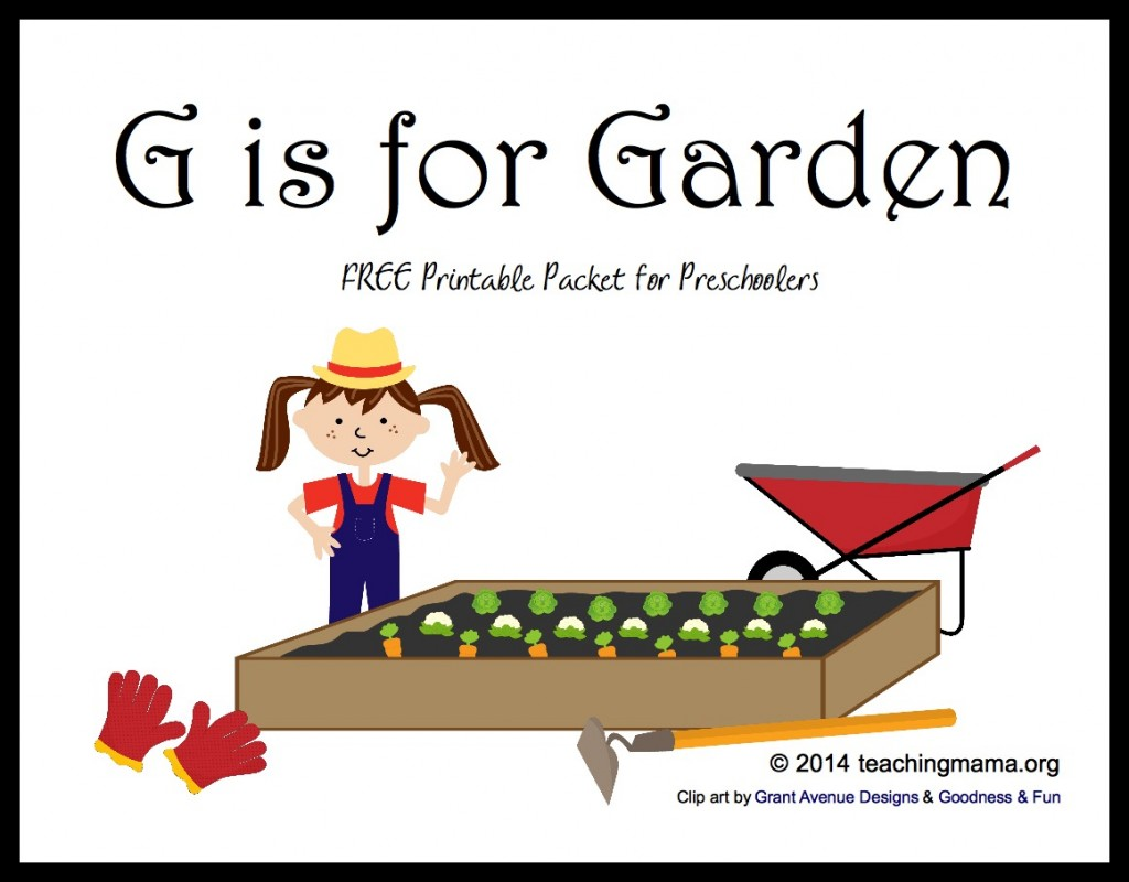 G Is For Garden Letter G Printables
