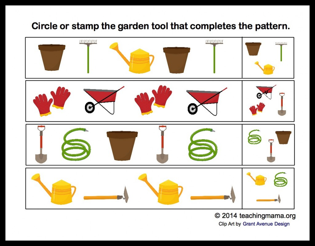 Preschool Gardening Worksheet Measuring