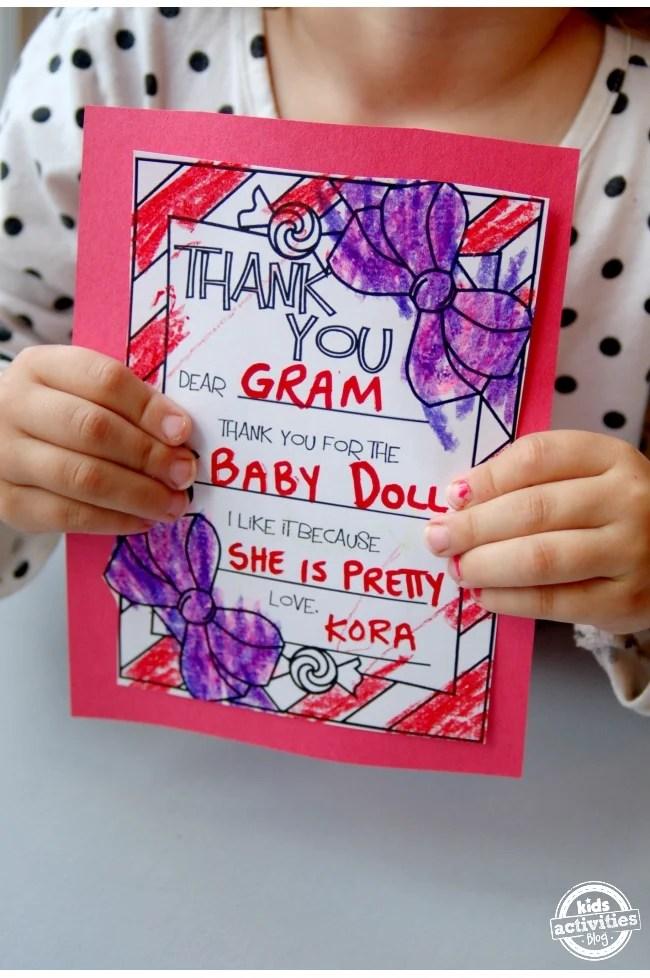 Christmas Thank You Cards Kids Can Make