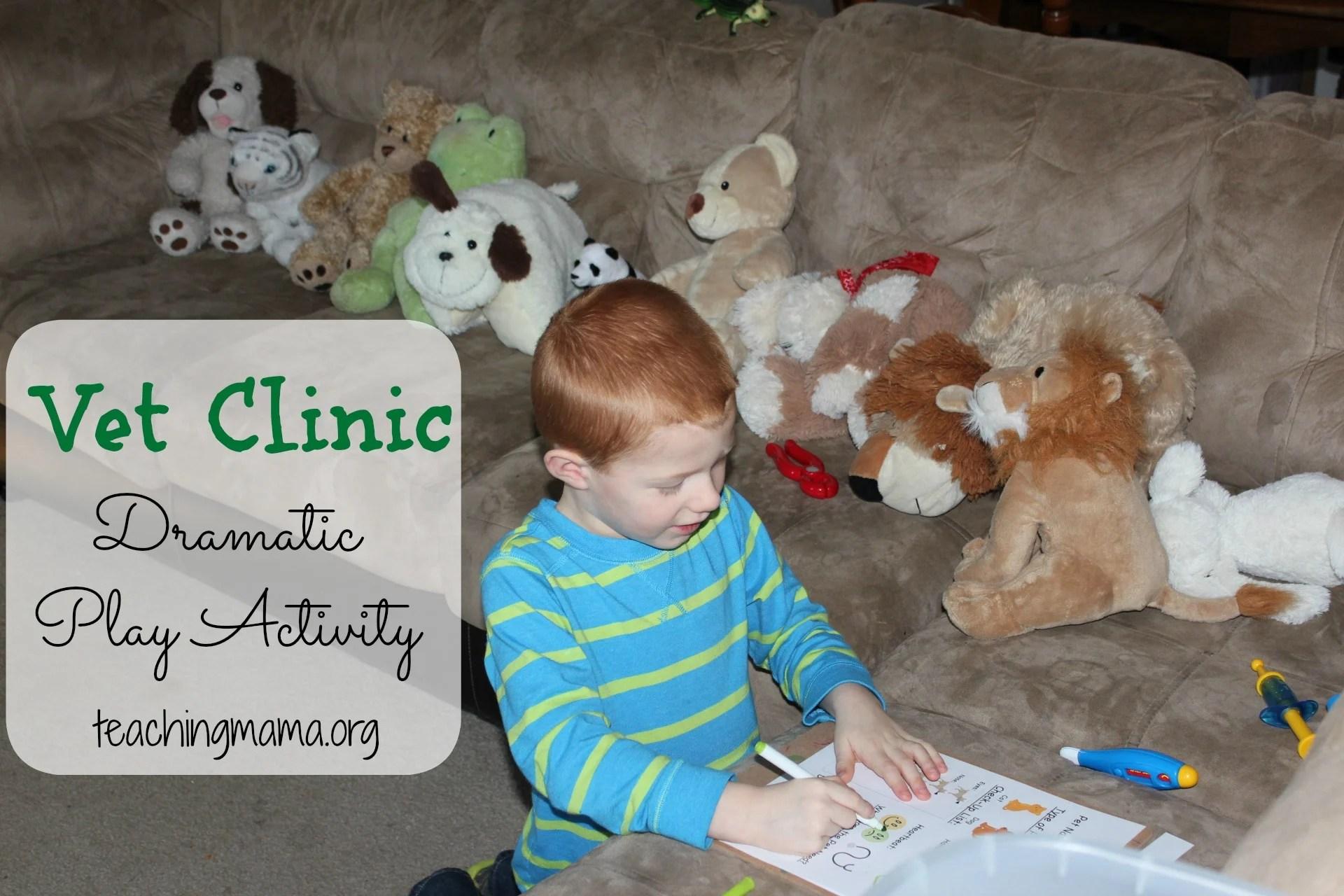 Vet Clinic Dramatic Play Activity