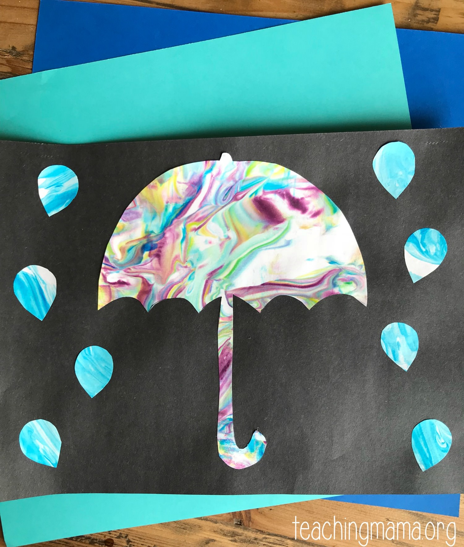 Umbrella Preschool Craft
