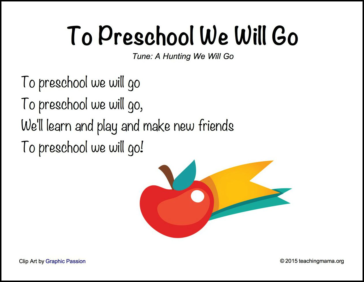 Back To School Songs For Preschoolers