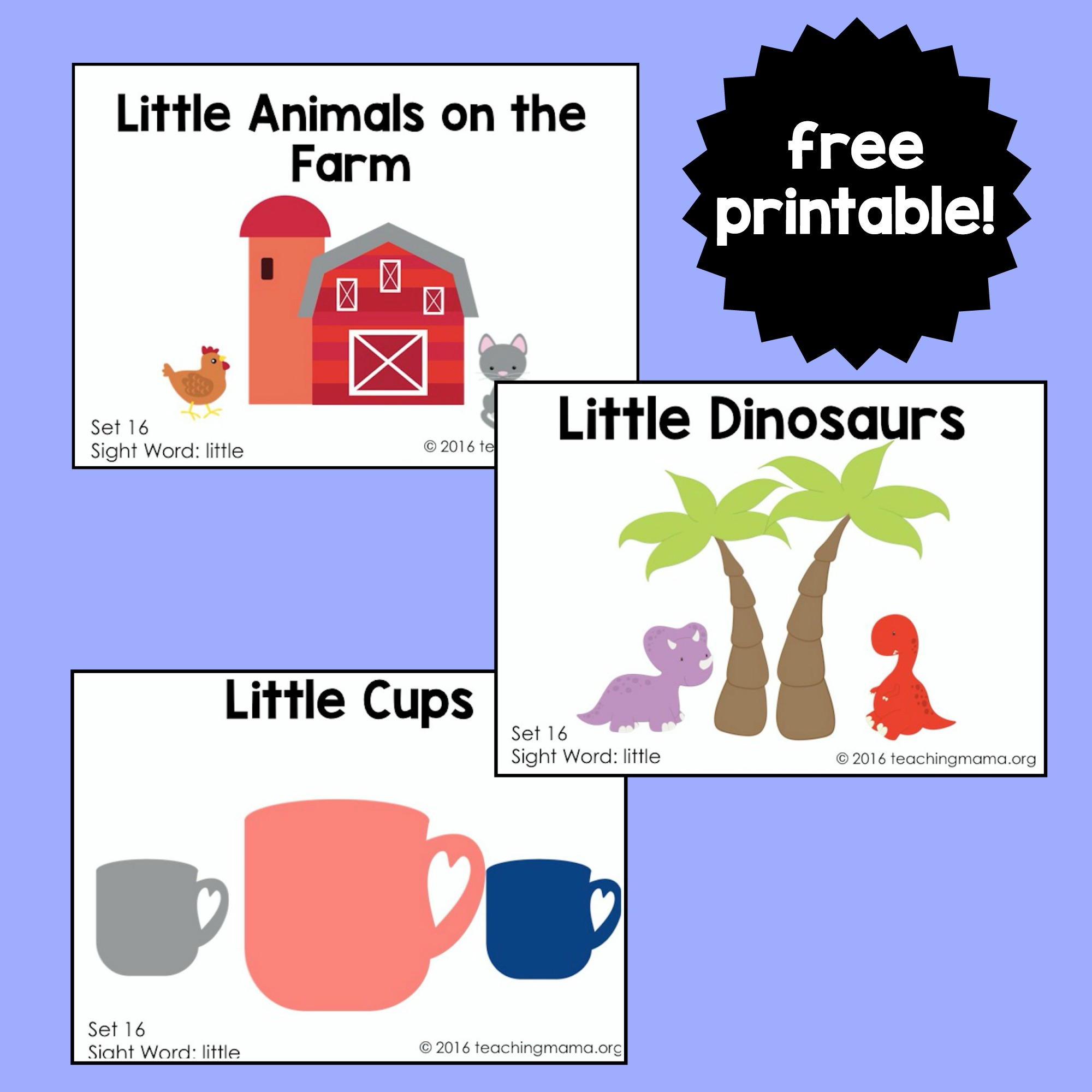 Sight Word Readers For The Word Little