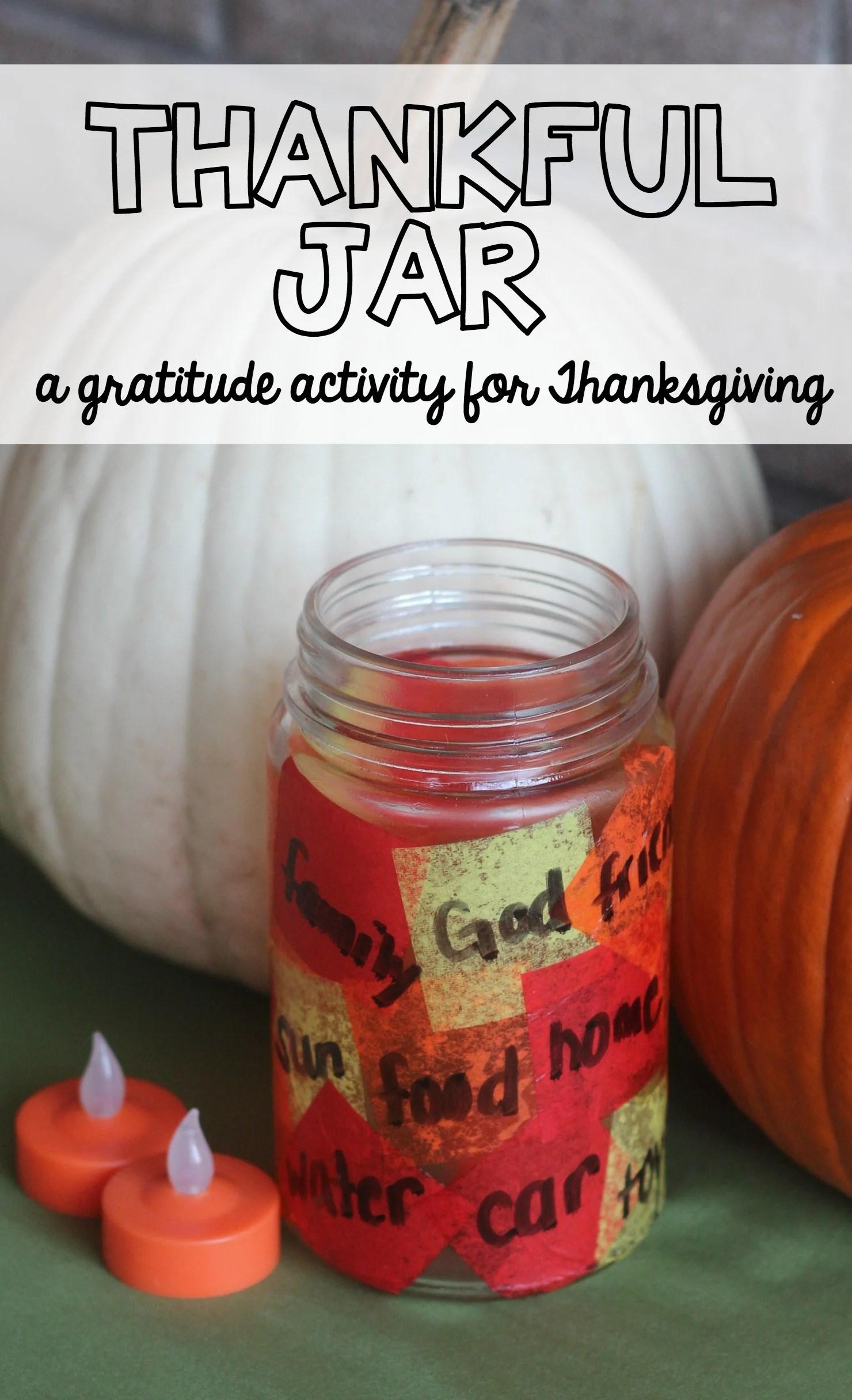 Thankful Jar Activity