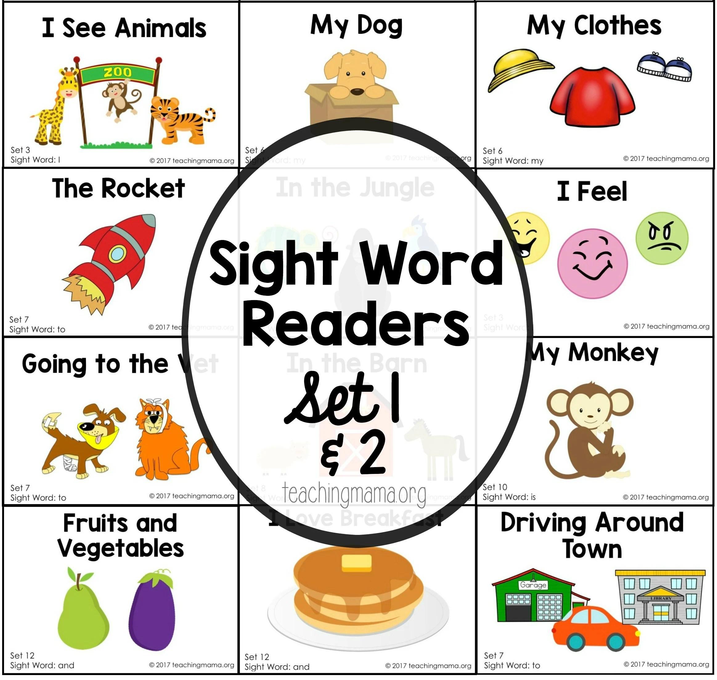 Sight Word Readers Set 1