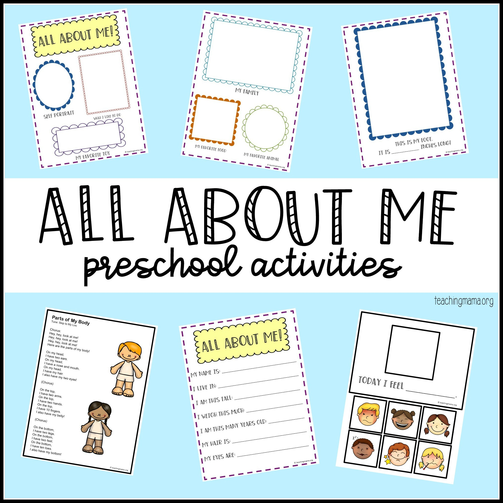 All About Me Preschool Theme
