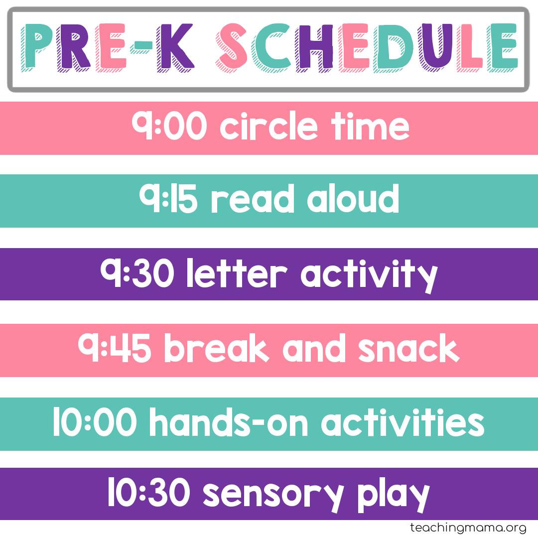 Why use a preschool daily schedule? Home Preschool Schedule Teaching Mama