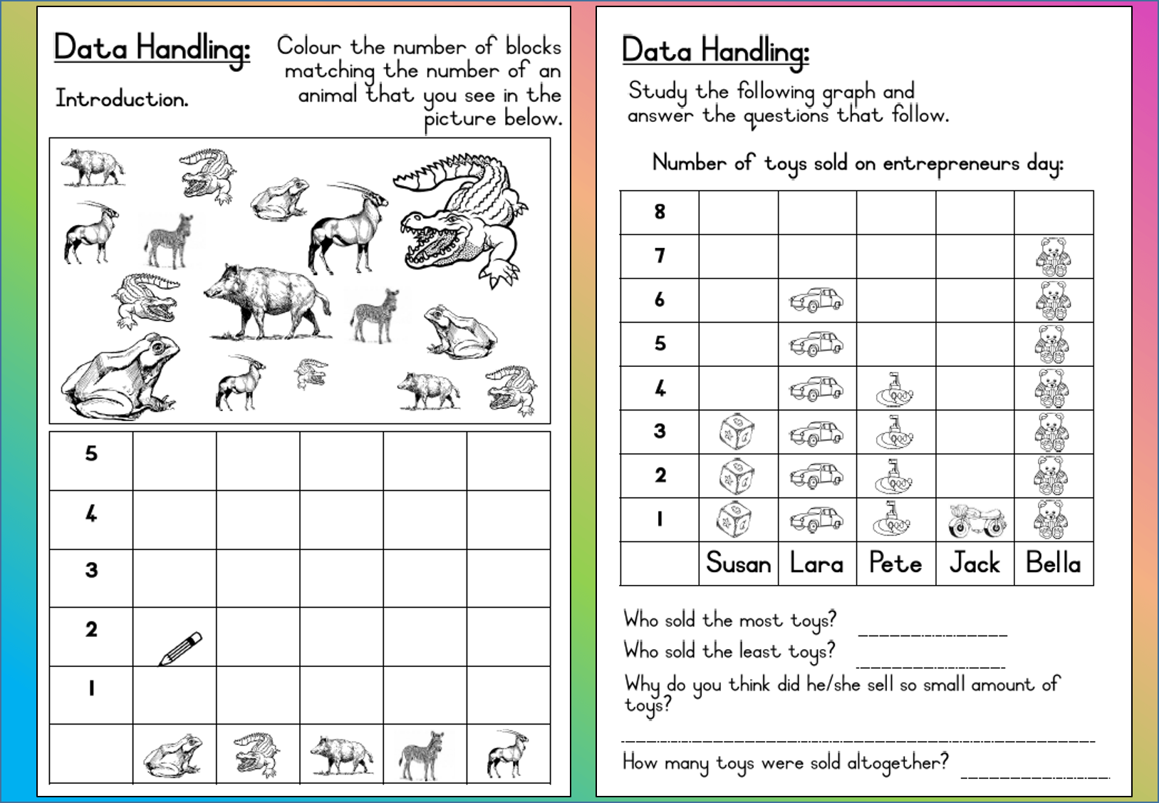 Subtraction Worksheet 2s