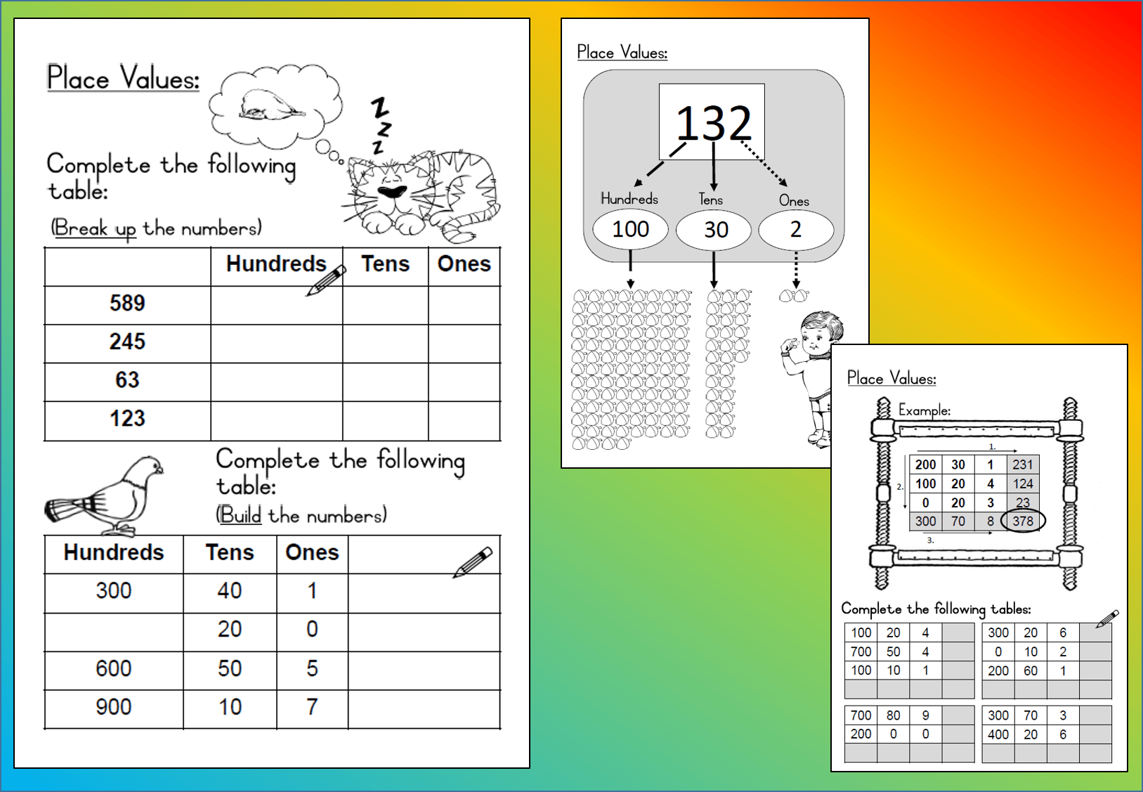Mathematics Grade 3 Place Values Worksheet Teacha