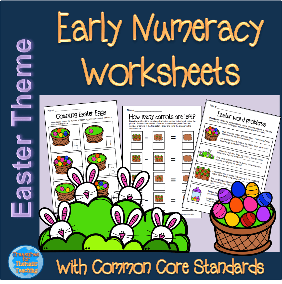 Easter Theme Early Numeracy Worksheets Teacha