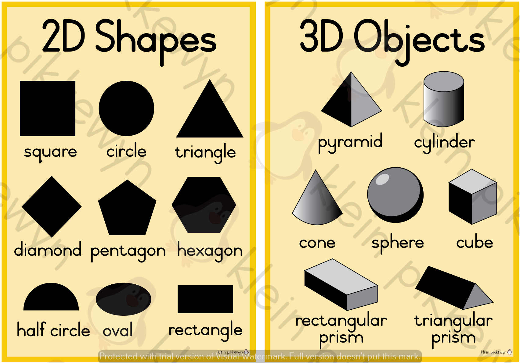 2d Shapes And 3d Objects Teacha