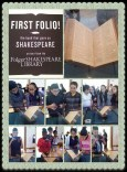 Students visit the First Folio at Florida International University. (Image: Folger Education)