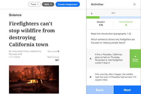 Newsela Article Quiz