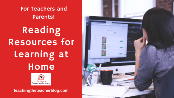 Reading Resources for Homeschool and Remote Learning