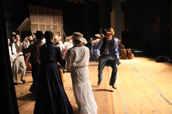 "Huron Forest Camp CedarRidge Performing Arts Company actors in ""Oklahoma!"""