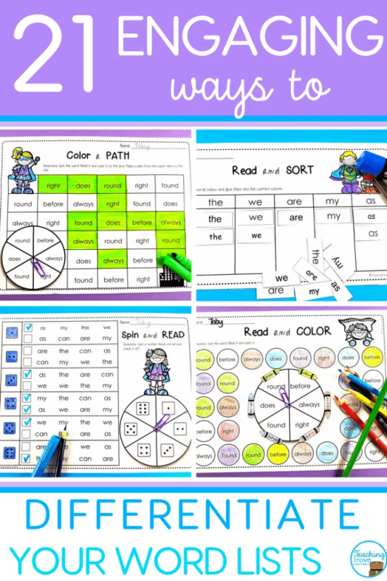 Editable wordwork activities are a huge time saver. It's so easy to create a range of literacy centers, sight wordpractice activities, even homework sheets - all with the words you need for your kids.