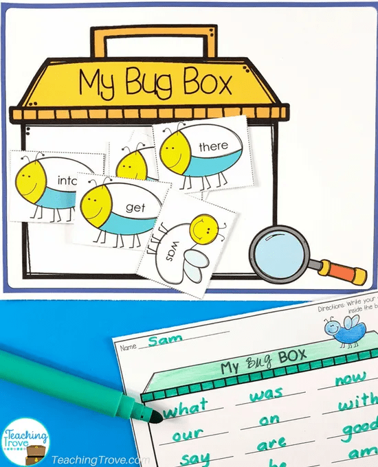 Sight word games that are editable and can be used with any word work activities.