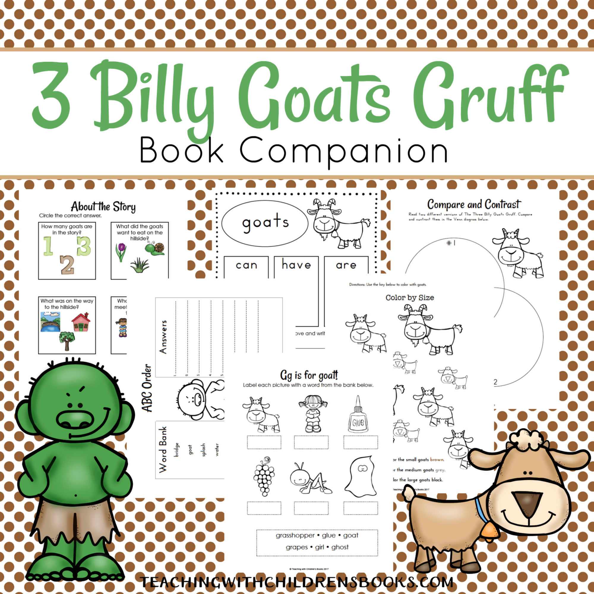 Three Billy Goats Gruff Book Companion