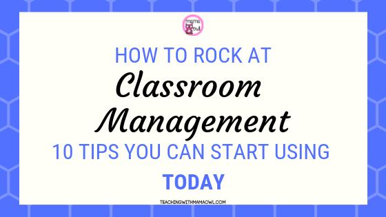 Teacher Classroom Management Tips