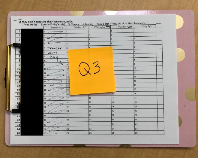 clipboard homework organization