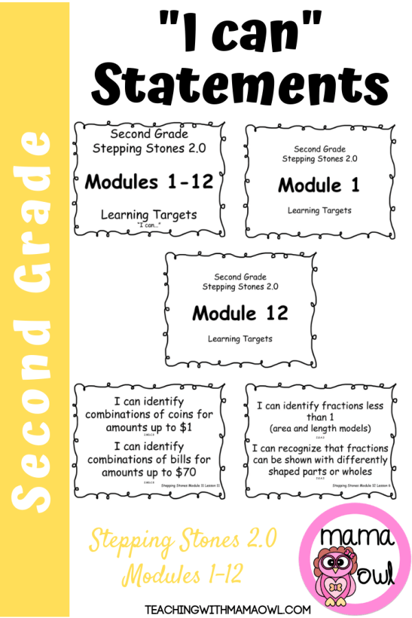 Second Grade SS 2.0 Learning Targets Modules 1-12