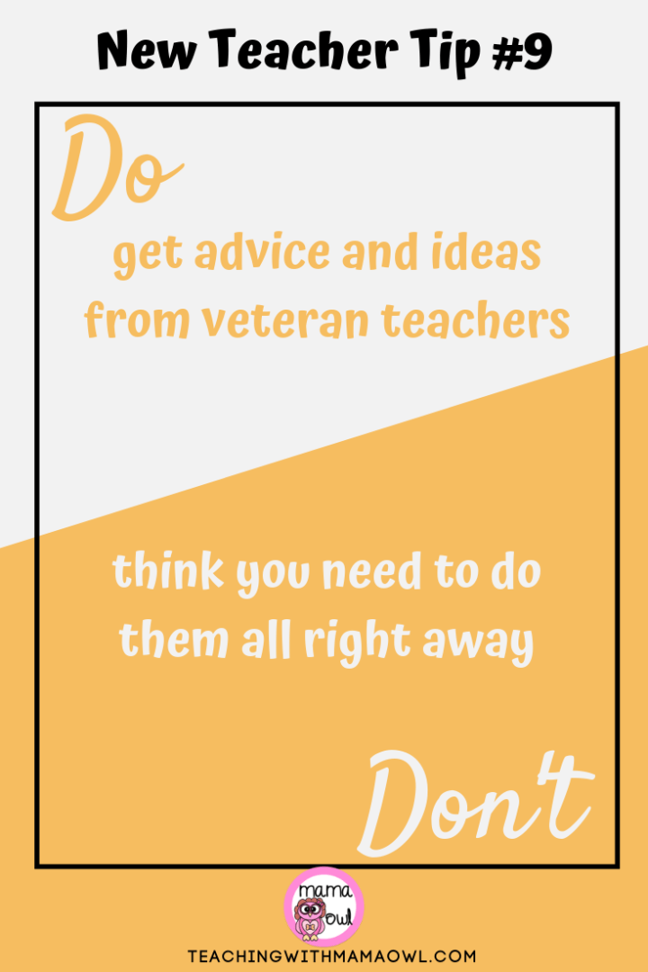 New Teacher Tip #9