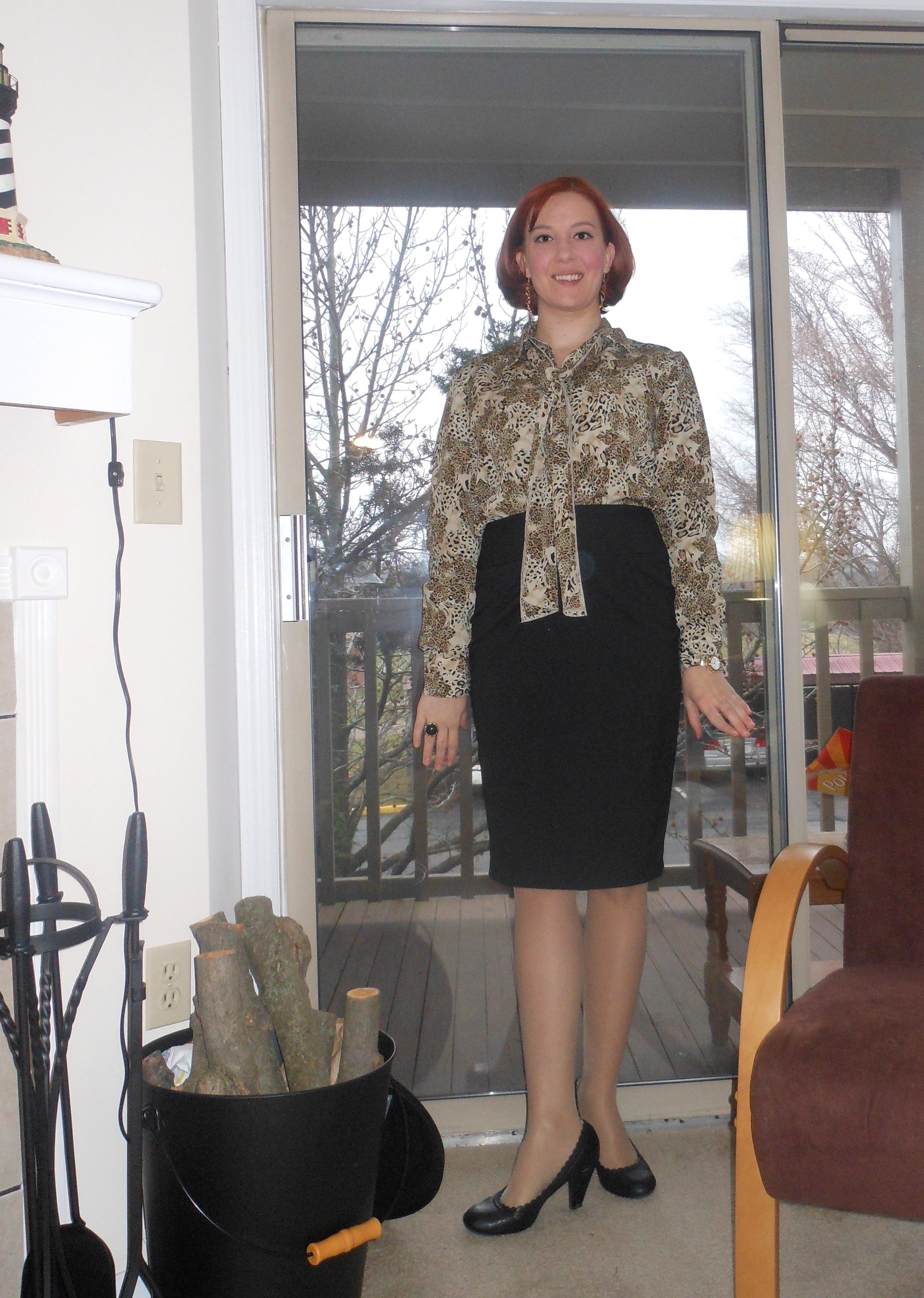 Teach in Style Little Black Dress and Lace Skirt - Teach