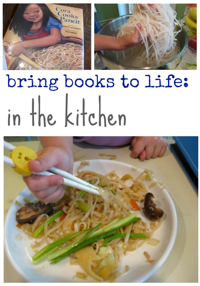 bring books to life in the kitchen | cora cooks pancit | international literacy day