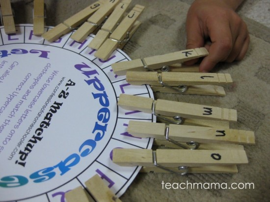 clothespin number and letter match-up game   teachmama.com