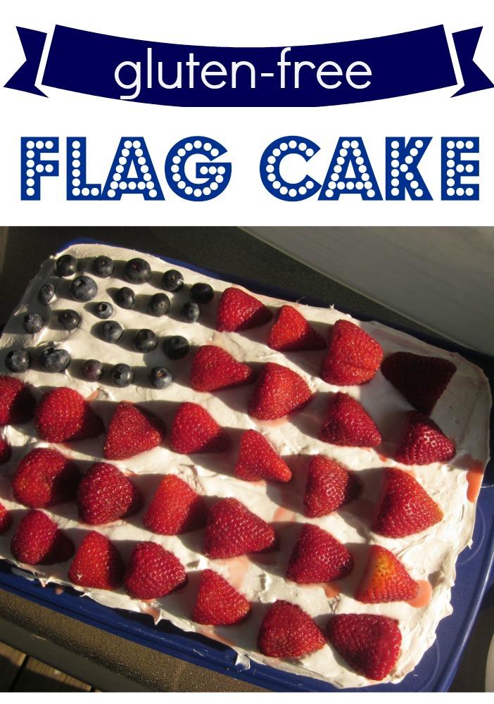 gluten free july 4th flag cake