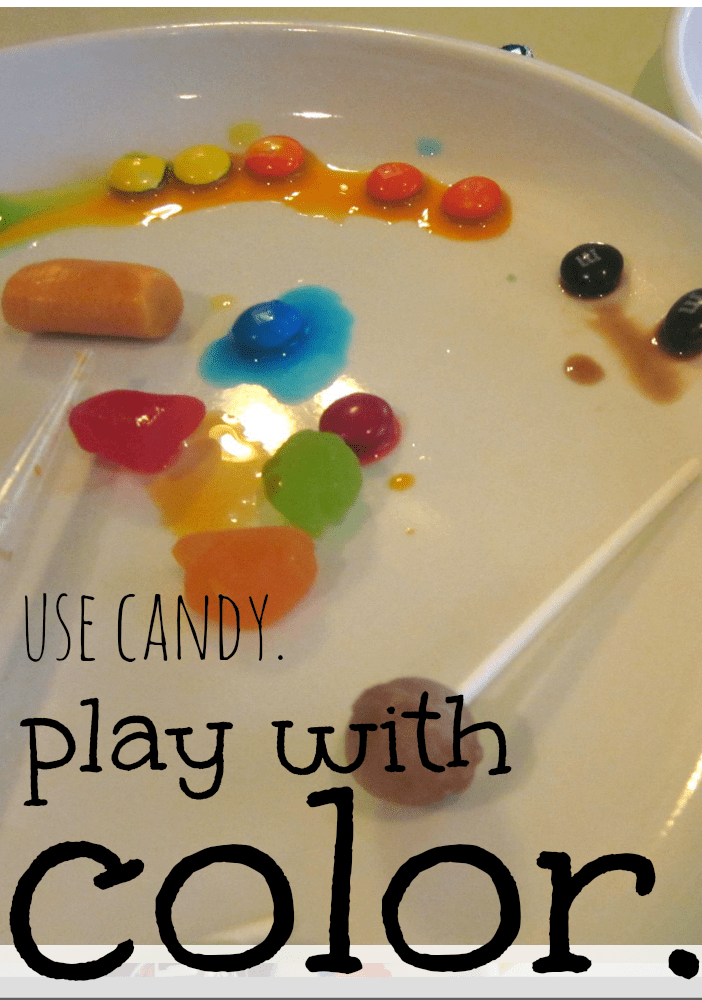 play with candy and color