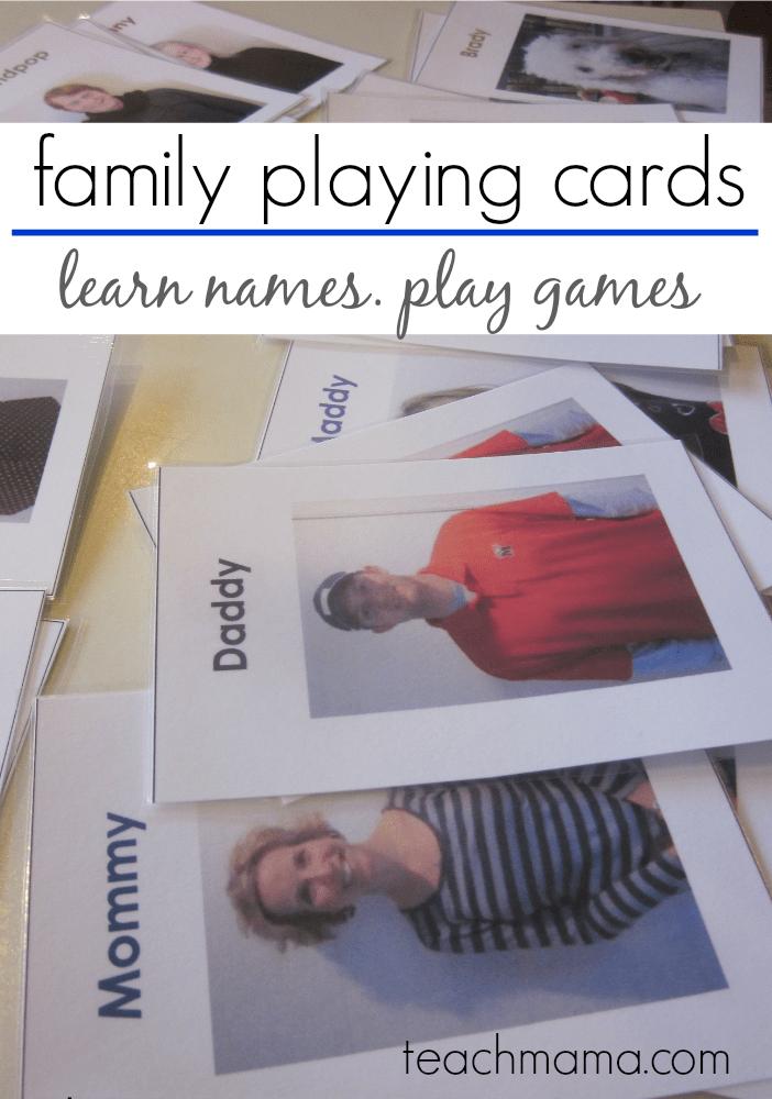 Family Playing Cards Take Em Make Em Then Play Teach Mama