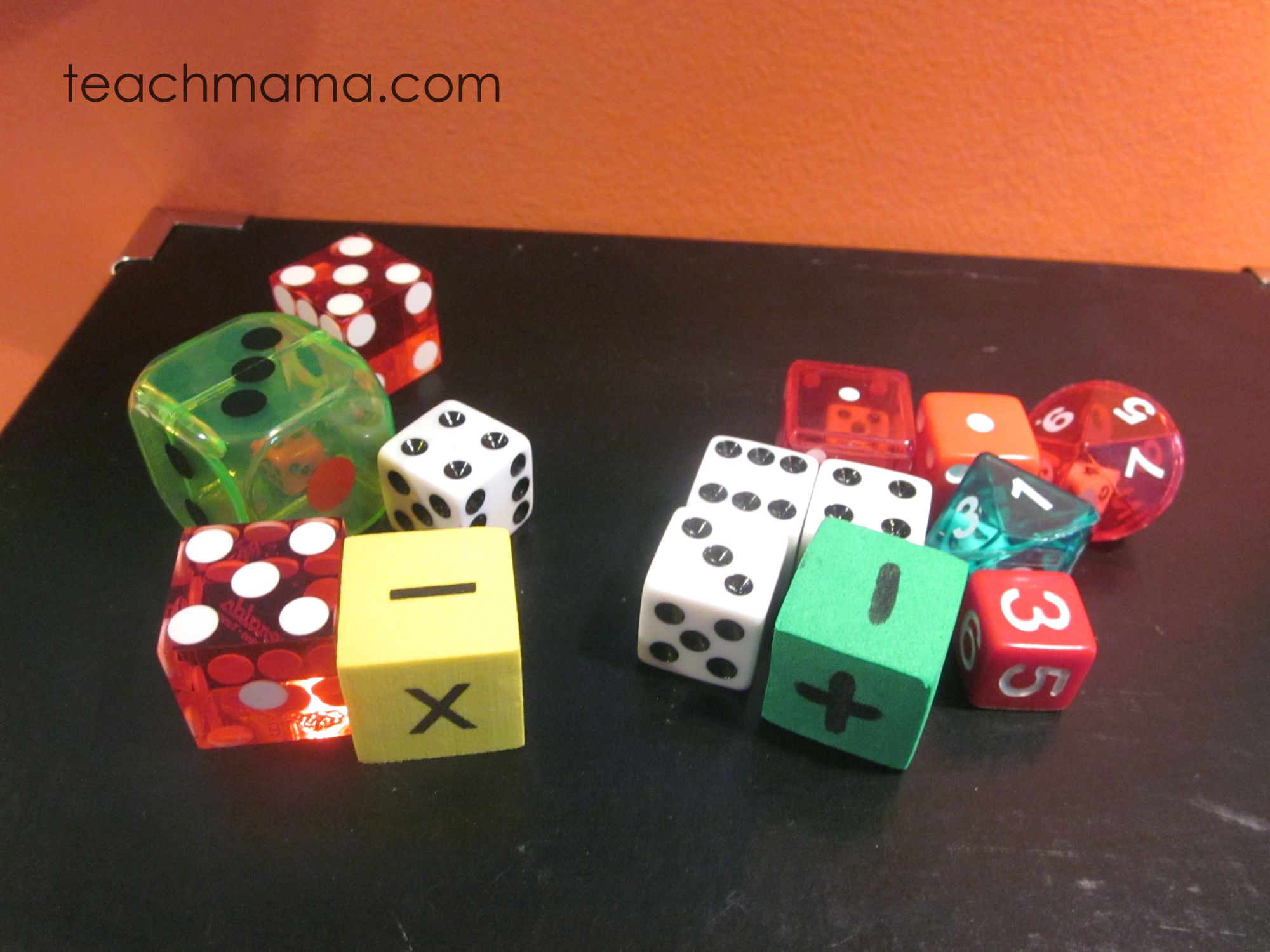 Practicing Math Facts With Crazy Mixed Up Dice Math