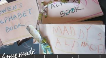 homemade alphabet book | early literacy | teachmama.com